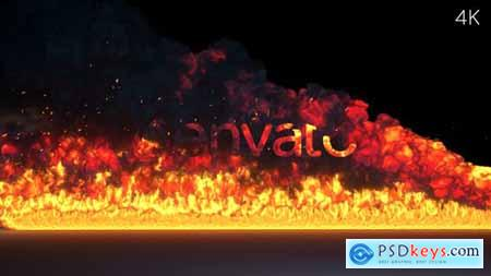 VideoHive Fire Burning Logo Reveal 24298390