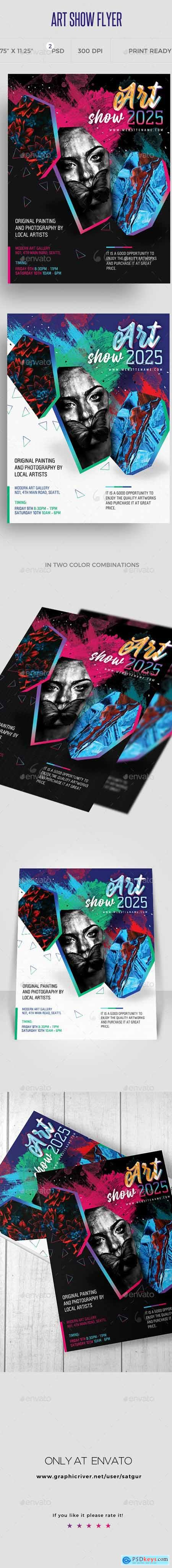 Art Show Flyer Template 24434669