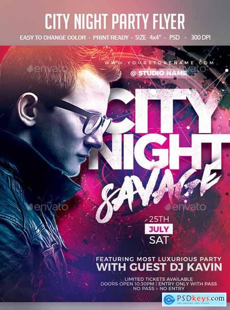 City Night Party Flyer 24428799