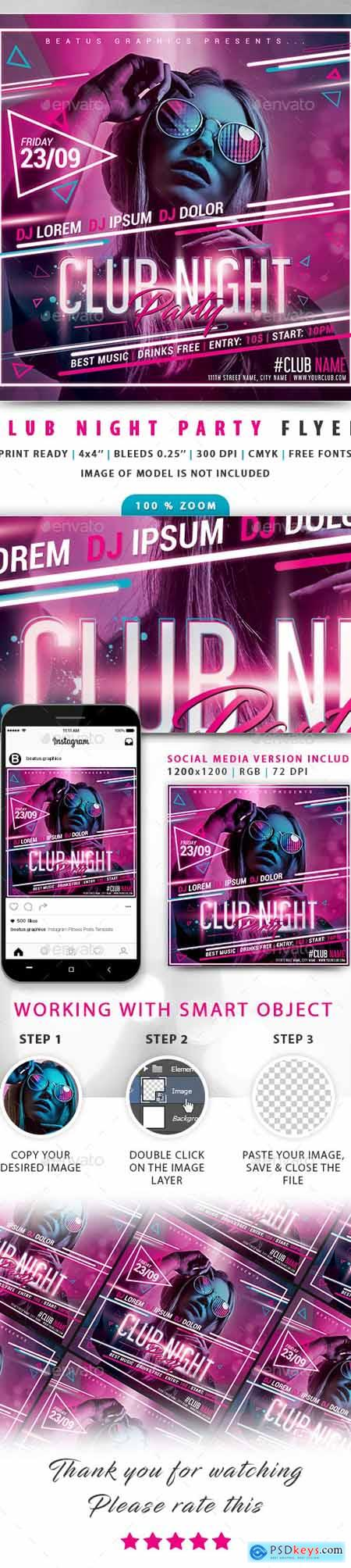 Club Night Party Flyer 24430389