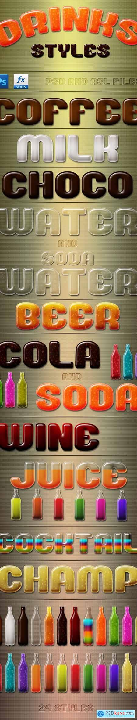 Drinks Styles Text Effects 24392259