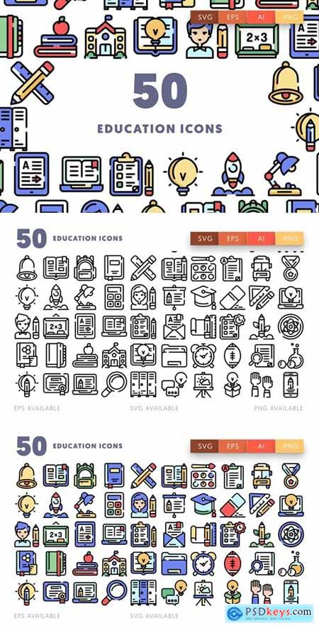 50 Education Icons