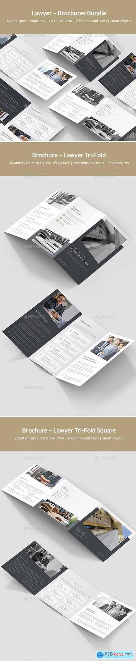 Lawyer – Brochures Bundle Print Templates 5 in 1 24245507