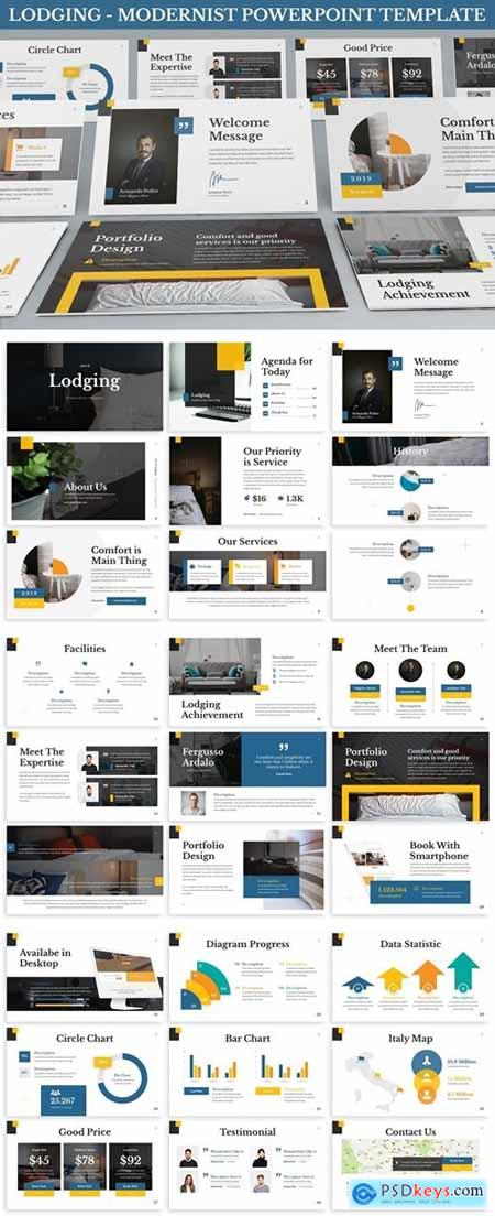 Lodging - Modernist Powerpoint Template