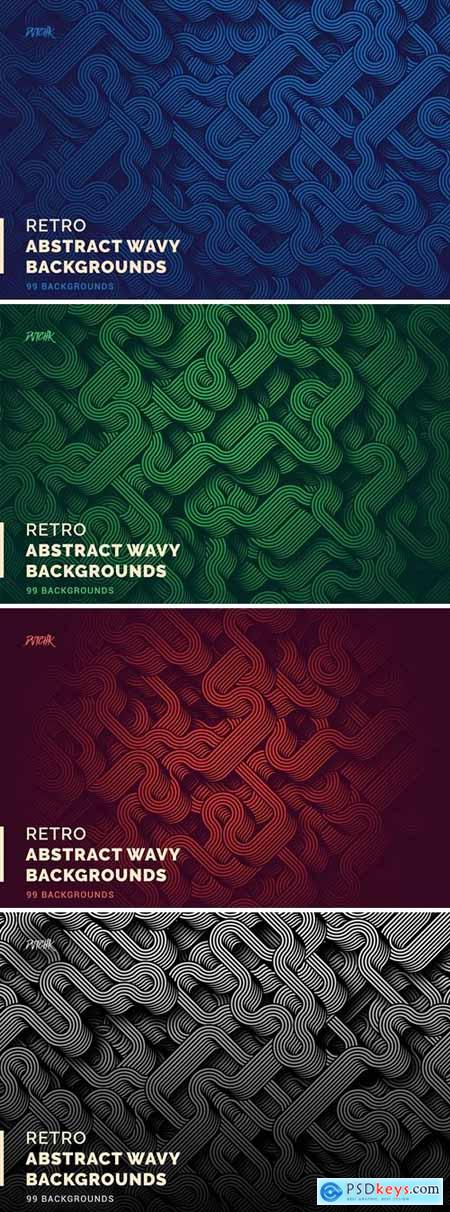 Retro Abstract Wavy Backgrounds