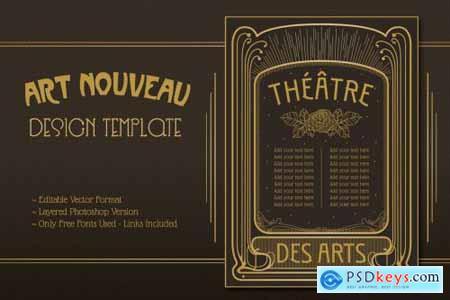 Art Nouveau Editable Design Template
