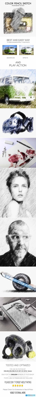 Color Pencil Sketch Photoshop Action 24323089