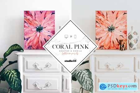 Coral pink lightroom preset 4007624