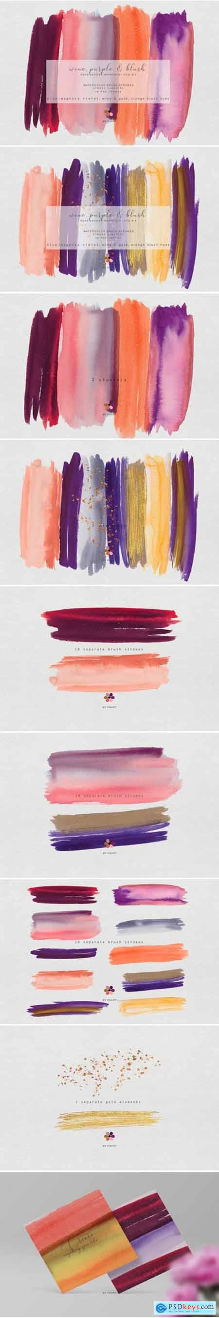 Hand Painted Watercolor Brush Strokes 1743290