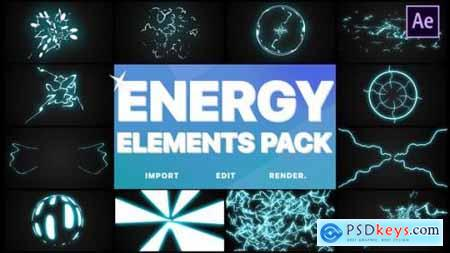 Videohive Energy Elements Pack After Effects 24522373