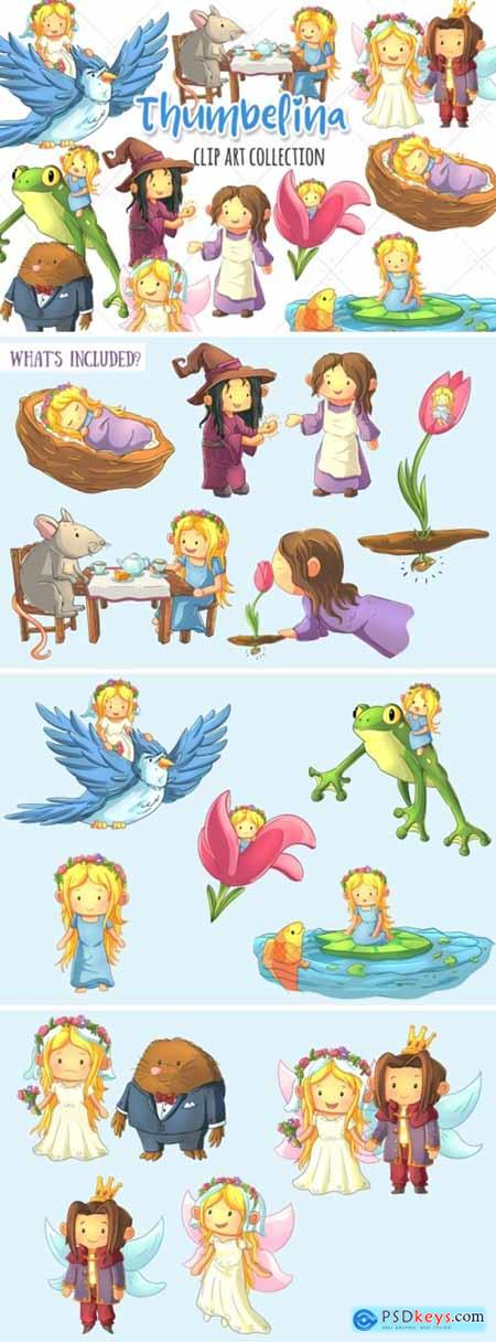Thumbelina Clip Art Collection 1745072