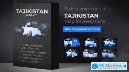 Videohive Tajikistan Map Republic of Tajikistan Map Kit 24519682