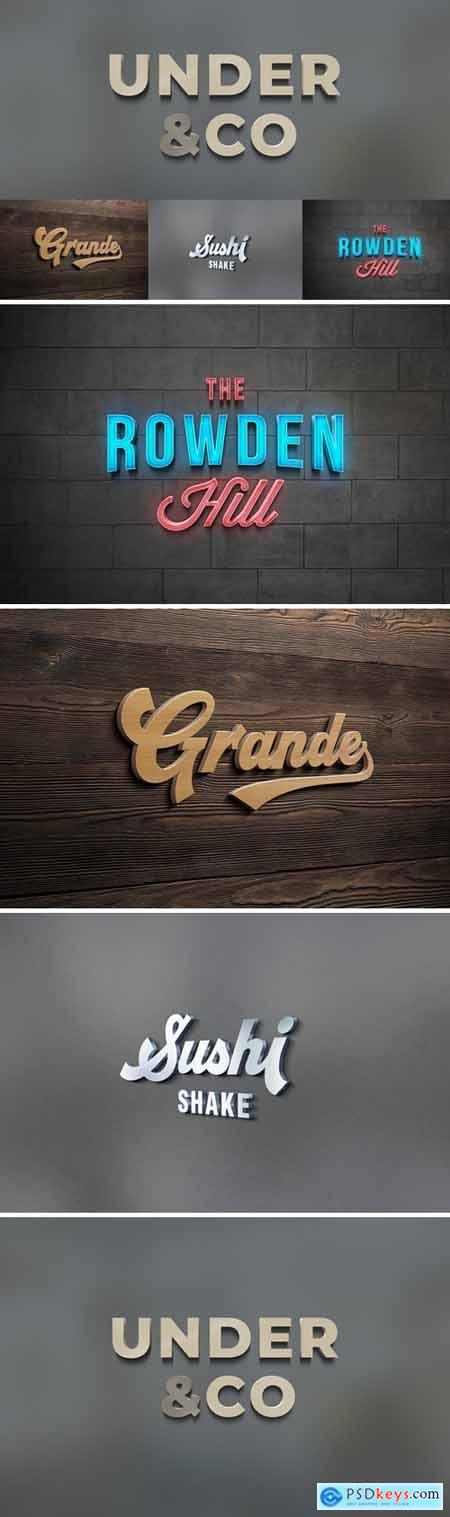 3D Logo Mockups » Free Download Photoshop Vector Stock image