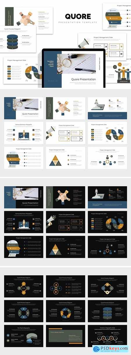 Quore Vector Infographic Business Powerpoint