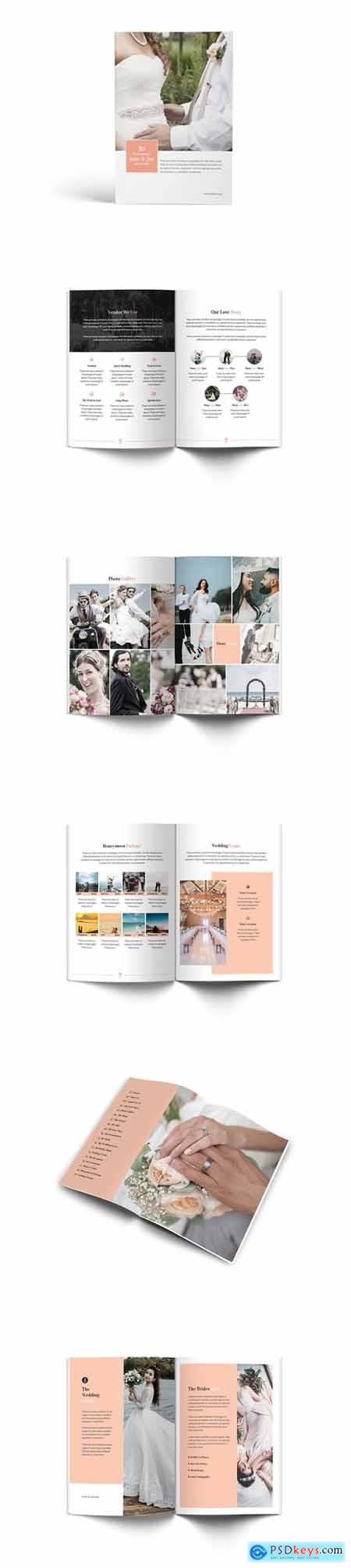The Wedding A4 Brochure Template
