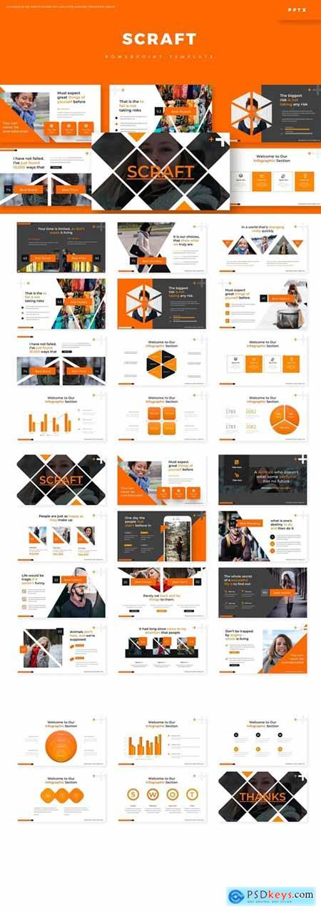 Scraft Powerpoint, Keynote and Google Slides Templates
