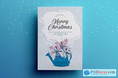 Winter Christmas Greeting Card