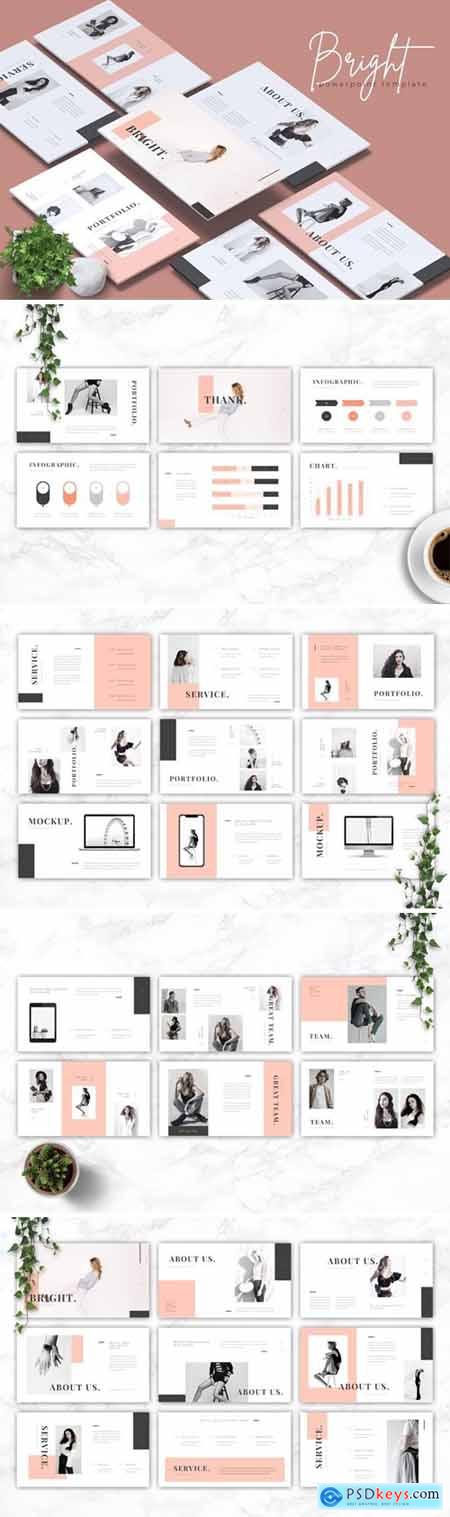 BRIGHT - Fashion Powerpoint, Keynote and Google Slides Templates