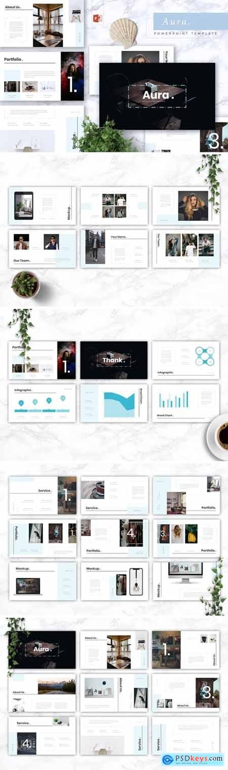AURA - Creative Powerpoint, Keynote and Google Slides Templates