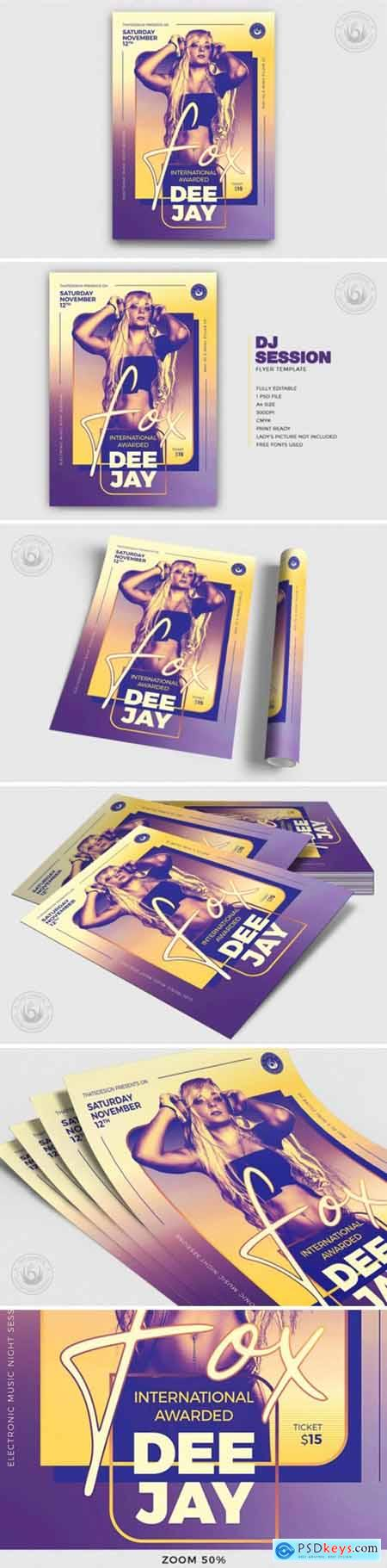 DJ Session Flyer Template V9 1749377
