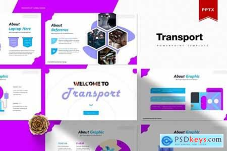 Transport Powerpoint, Keynote and Google Slides Templates