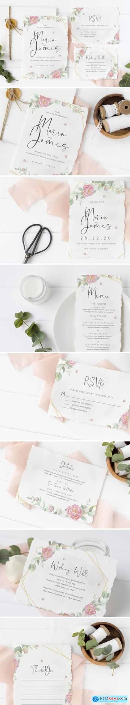Wedding Eucalyptus Watercolor Suite 1748789