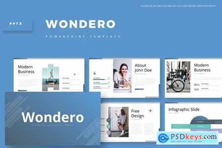 Wondero Powerpoint, Keynote and Google Slides Templates