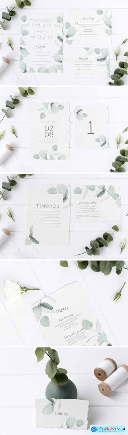 Eucalyptus Wedding Invitation Suite 1748801