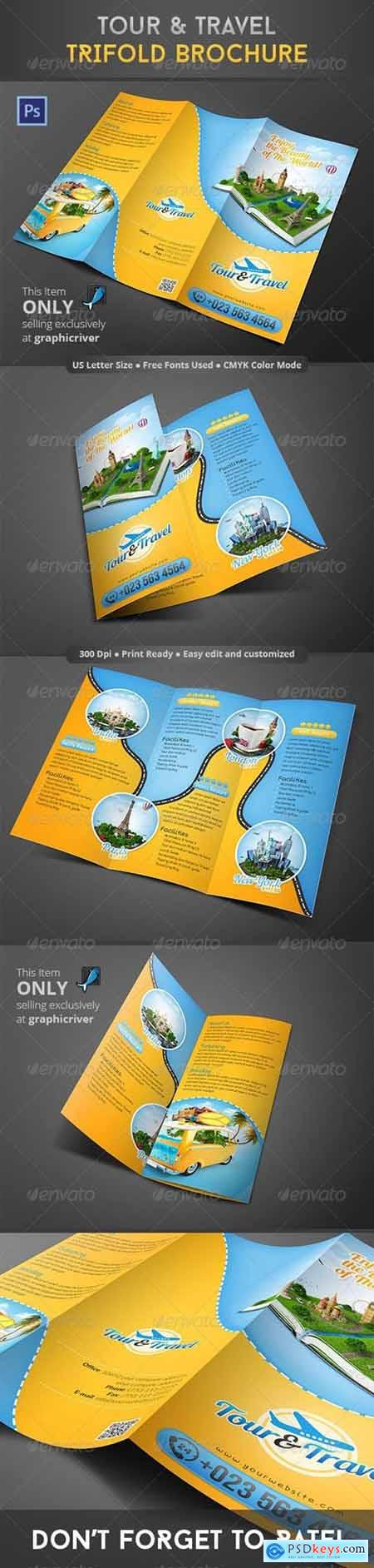 Tour & Travel Trifold Brochure 8610213