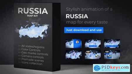 Videohive Russia Map Russian Federation Map Kit 24545916