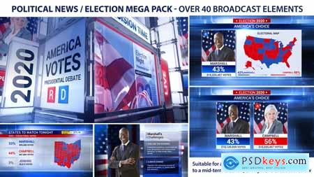 Videohive Broadcast - Political News Election Mega Pack 22685799