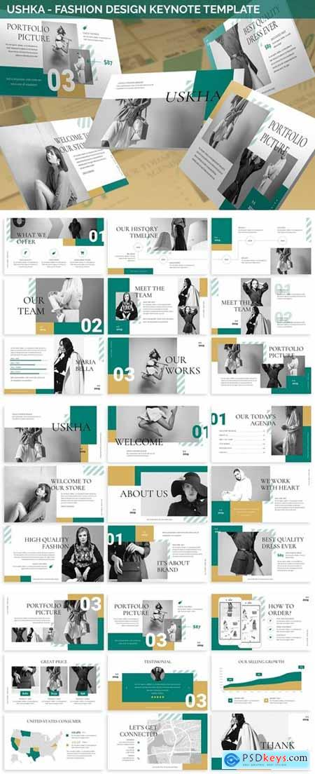 Ushka - Fashion Design Keynote Template