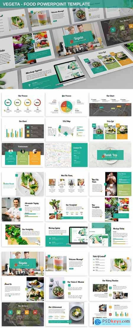 Vegeta - Food Powerpoint Template