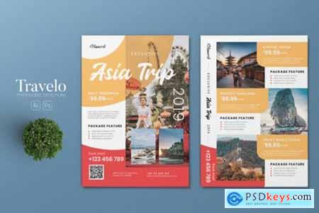 Tour & Travel AI and PSD Flyer