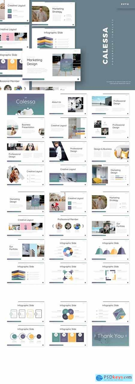 Calessa Powerpoint, Keynote and Google Slides Templates