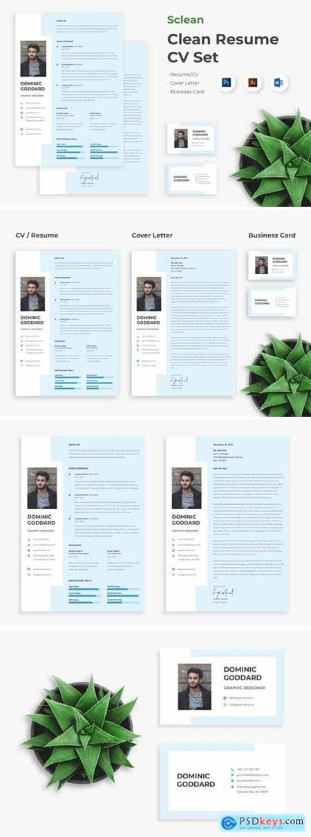 Sclean - Clean Resume CV Set