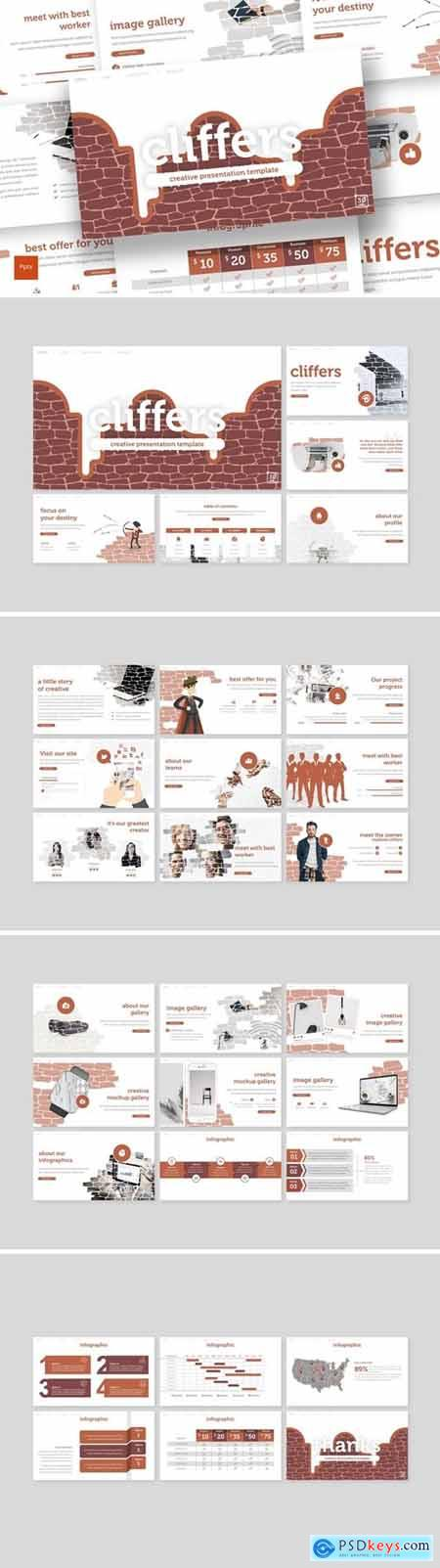 Cliffers Powerpoint, Keynote and Google Slides Templates