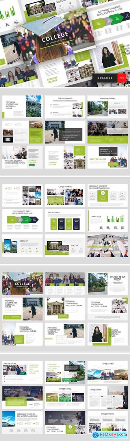 College - University Powerpoint, Keynote and Google Slides Templates