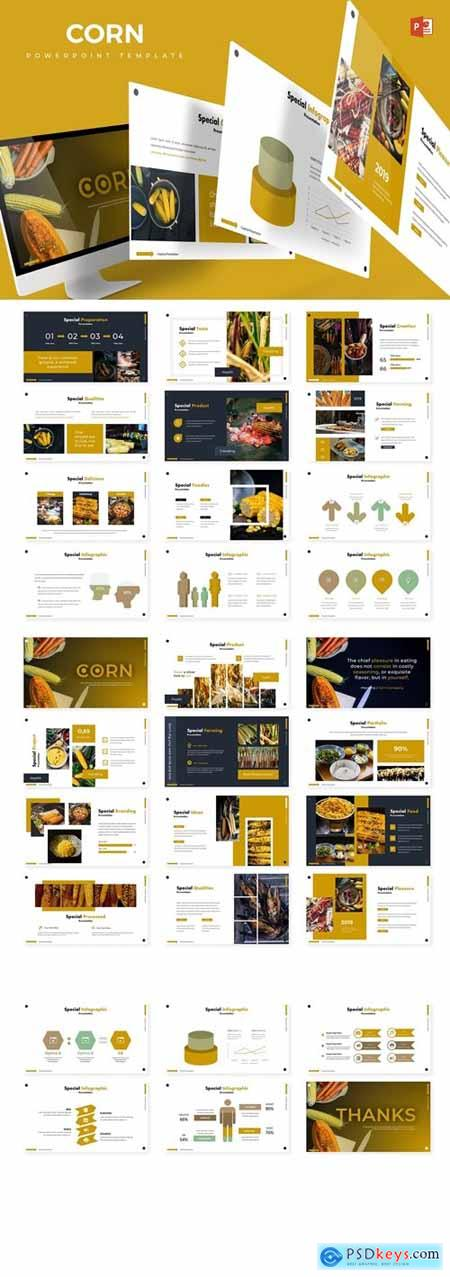 Corn Powerpoint, Keynote and Google Slides Templates