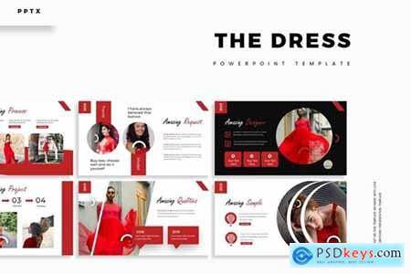 The Dress Powerpoint, Keynote and Google Slides Templates
