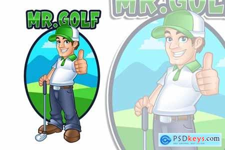 Mr.Golf Mascot Logo Character