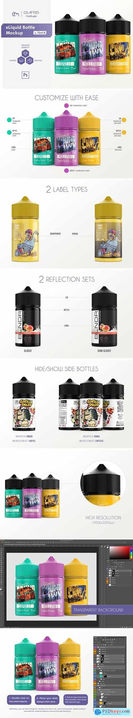 eLiquid Bottle Mockup v. 75ml-B 4088547