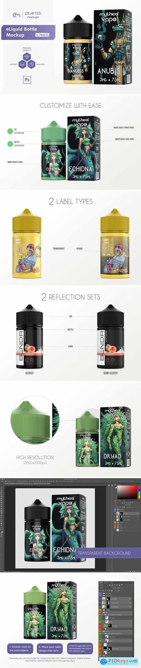 eLiquid Bottle Mockup v. 75ml-C 4088594