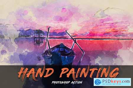 Hand Painting Photoshop Action 3991312