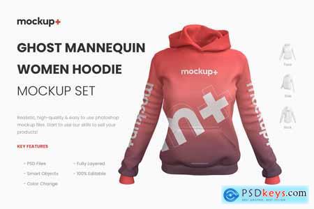 Realistic Women Hoodie Mockup 4001397