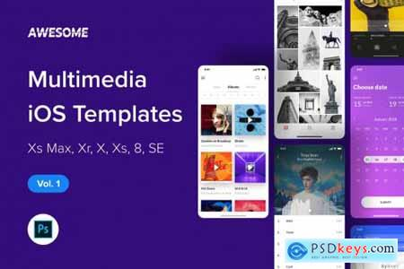 Awesome iOS UI Kit - Multimedia Vol. 1