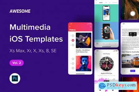Awesome iOS UI Kit - Multimedia Vol. 2