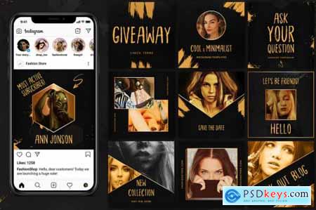 Black & Gold - Instagram Pack