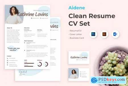 Aidene - Clean Resume CV Set