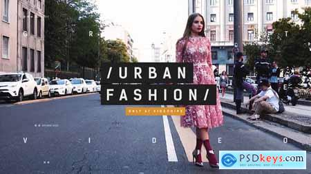 VideoHive Urban Fashion Event Promo Dynamic Opener Clothes Collection Beauty Models Backstage 22433794